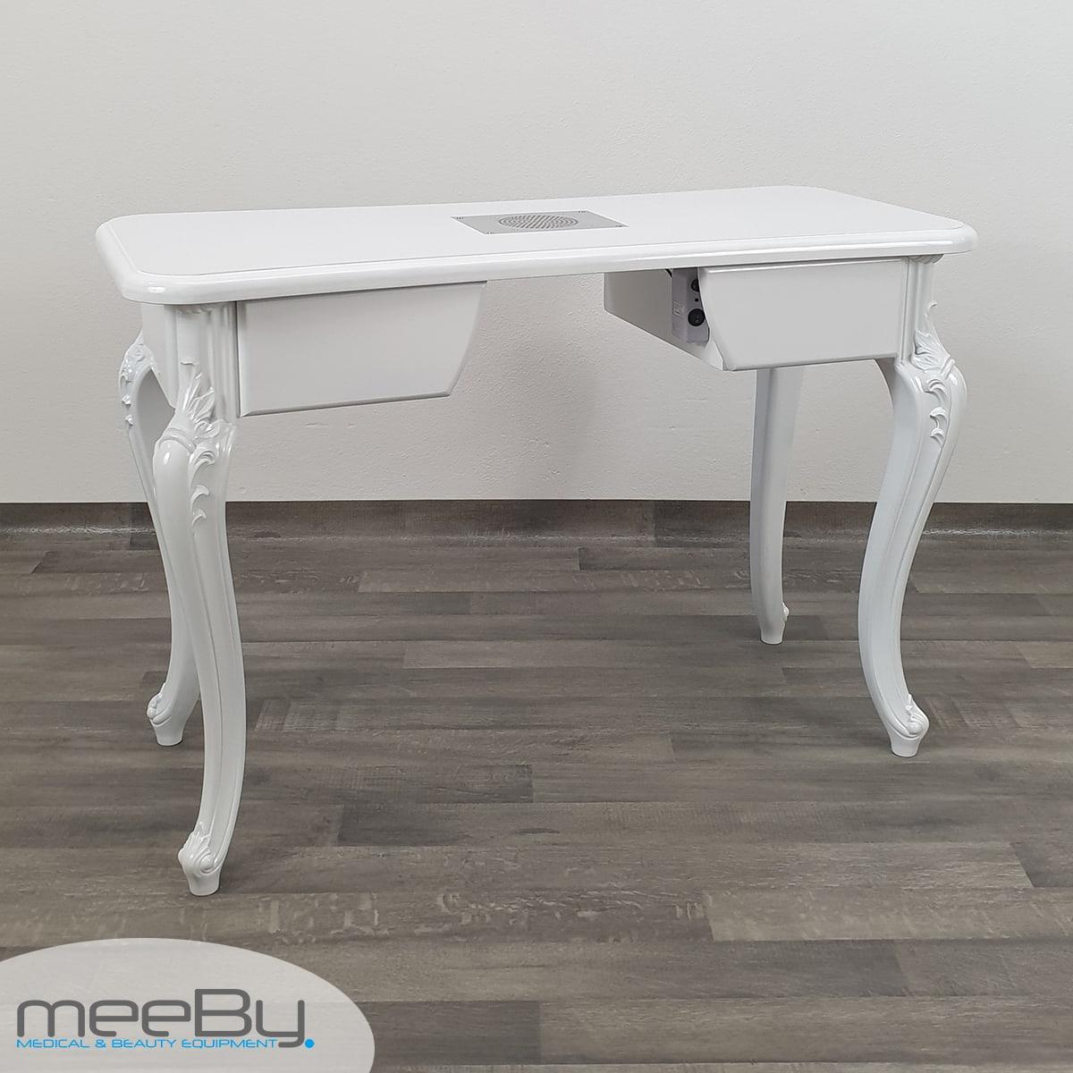 Tavolo Bianco Barocco.Tavolo Design Barocco In Bianco