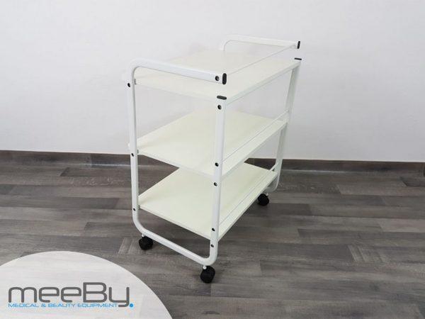 carrello estetica bianco con 3 ripiani