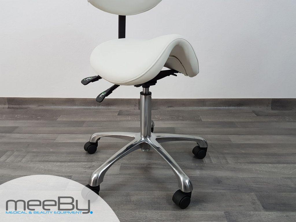 Sgabello bianco regolabile meeby attrezzature per l estetica