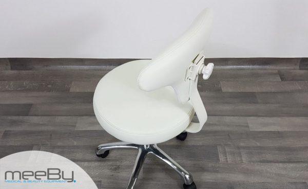 Sgabello con seduta tonda bianco