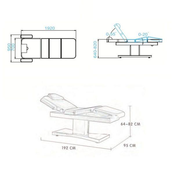 lettino ergonomico multifunzionale 2 motori