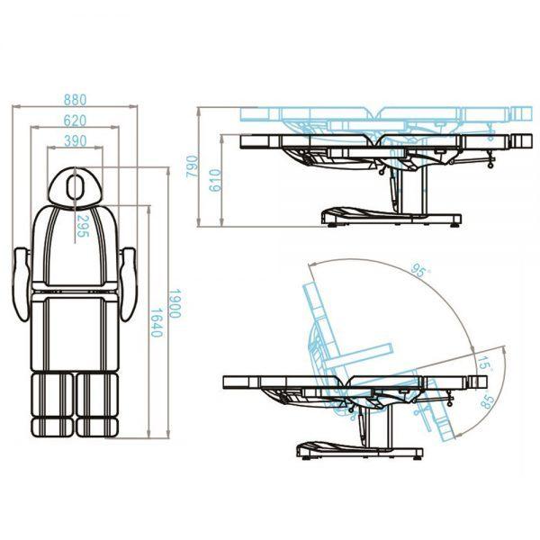 poltrona lettino professionale multifunzionale 2 motori