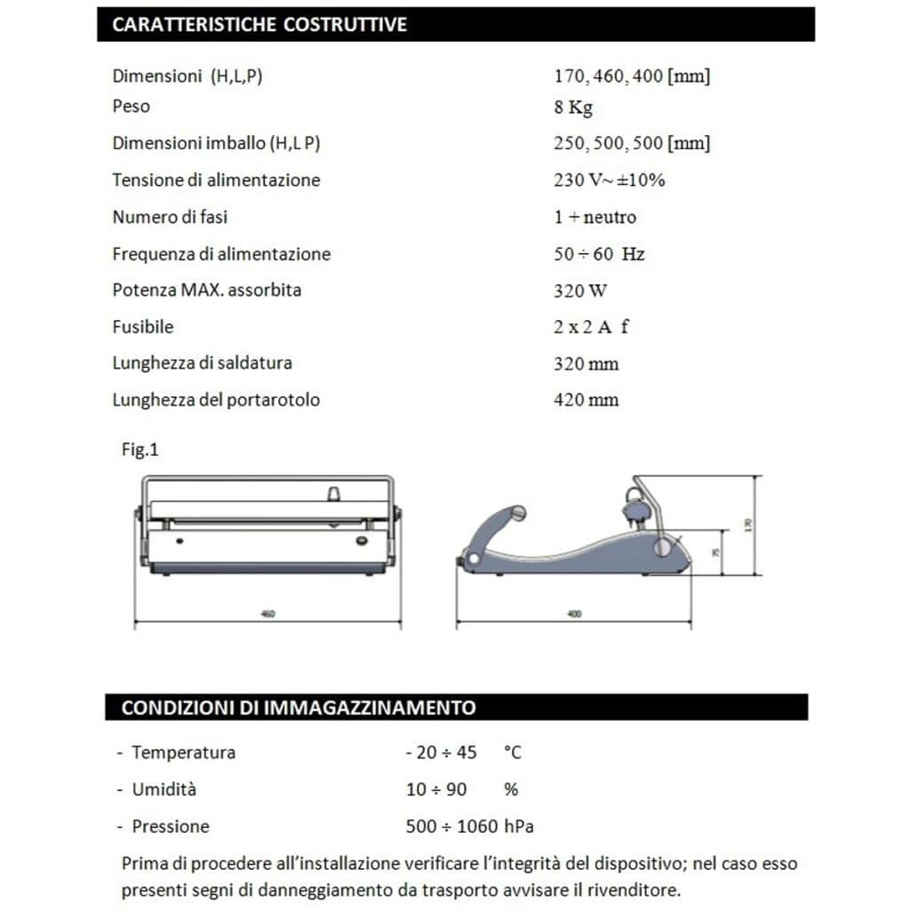 termosigillatrice sterilizzazione caratteristiche di costruzione