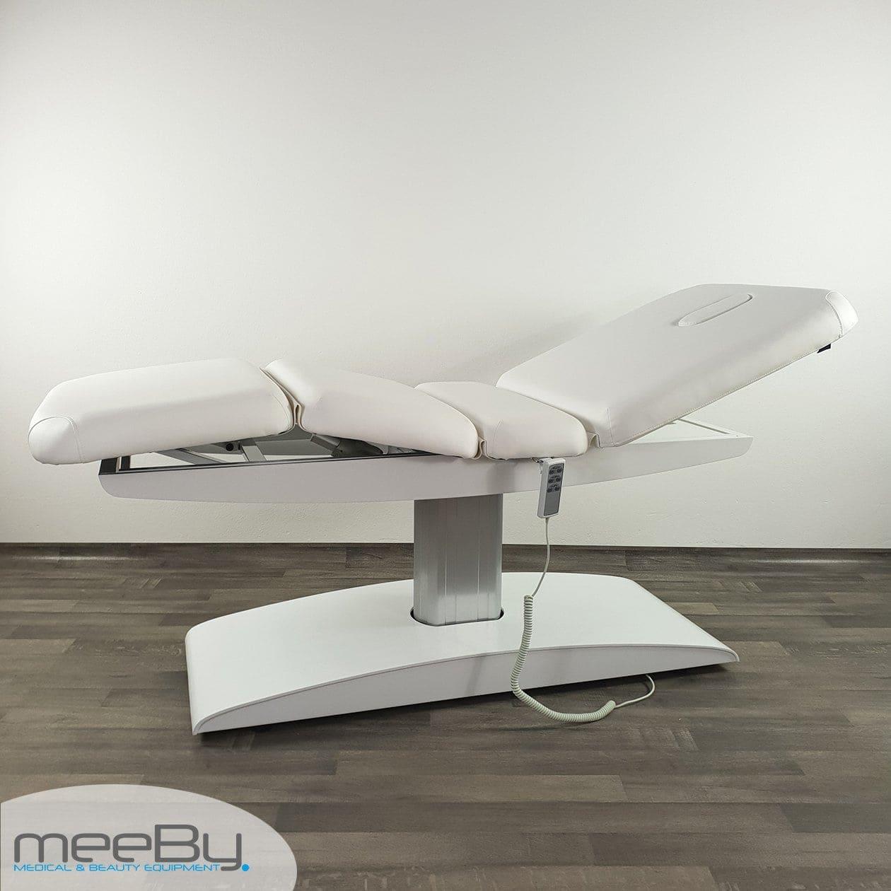 Lettino elettrico bianco per estetista centro estetico for Lettino per estetista pieghevole