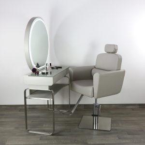 Postazione Completa Make-Up Specchio Tavolo Poltrona Trucco